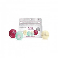 EOS Set tří balzámů na rty - Decorative Lip Balm Collection