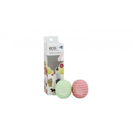 EOS Set balzámů Jarní limitovaná edice Coconut Milk Kokosové mléko  a Cocumber Melon